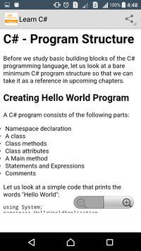 Learn C# Programming apk screenshot