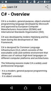 Learn C# Programming screenshot 1