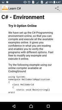 Learn C# Programming screenshot 2