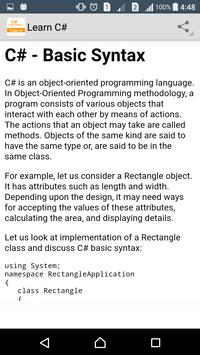 Learn C# Programming screenshot 4