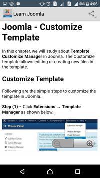 Learn Joomla apk screenshot