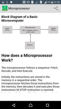 Learn Microprocessor apk screenshot