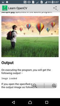 Learn OpenCV apk screenshot