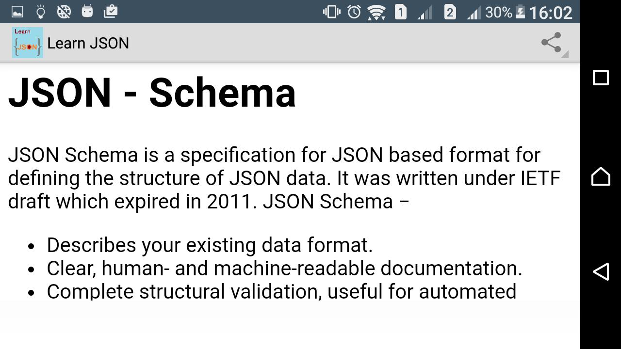 Learn JSON [Fast] for Android - APK Download