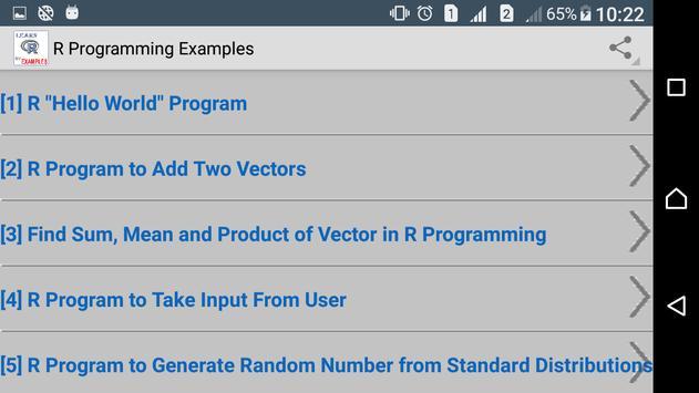 R Programming Examples apk screenshot