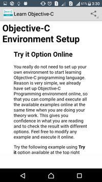 Learn Objective _ C apk screenshot