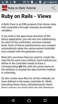 Learn Ruby on Rails apk screenshot