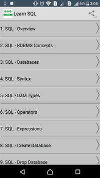 Learn SQL poster