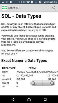 Learn SQL apk screenshot