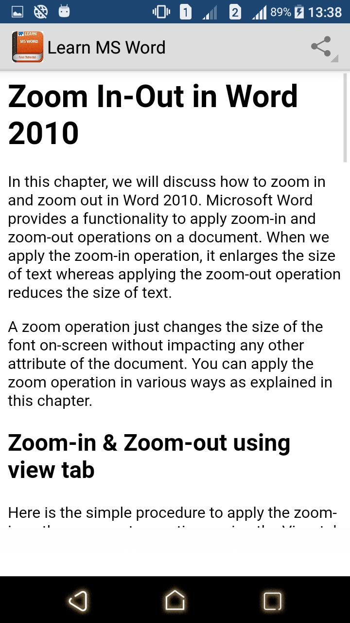 Learn MS Word poster