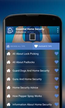 Essential Home Security apk screenshot