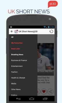 UK Short News at 30 poster
