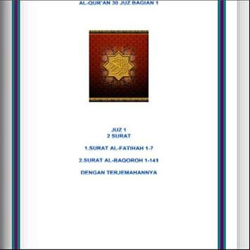 English Al Quran - Juz 1 poster