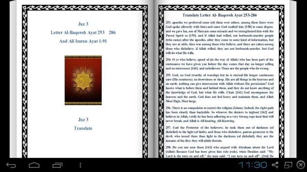 English Al Quran - Juz 3 apk screenshot