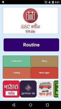 SSC Dakhil 2018 Routine এস এস সি দাখিল ২০১৮ রুটিন poster