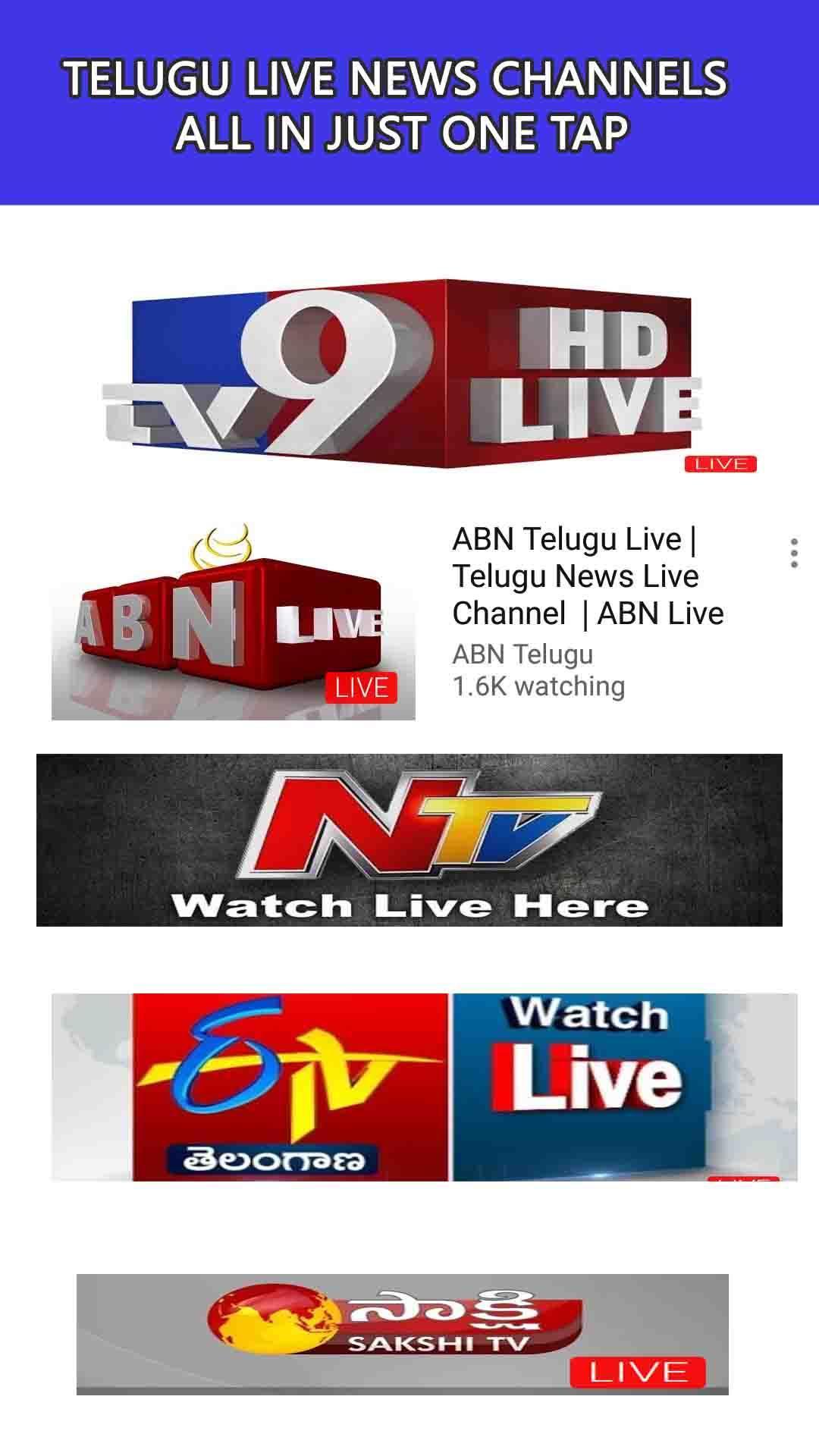 Popular Telugu News Channel — Edulify