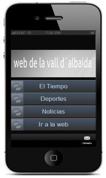 app webvallalbaida poster