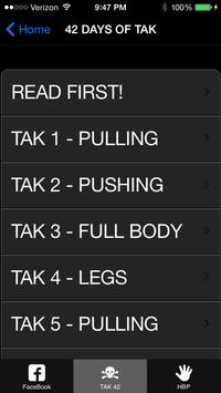 TAK FItness screenshot 1