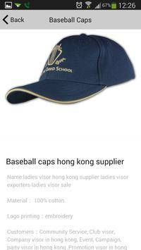棒球帽訂做專門店 apk screenshot