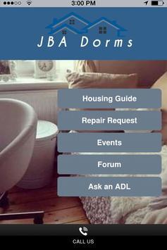 JBA Dorms poster