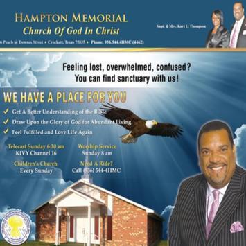 Hampton Memorial COGIC poster