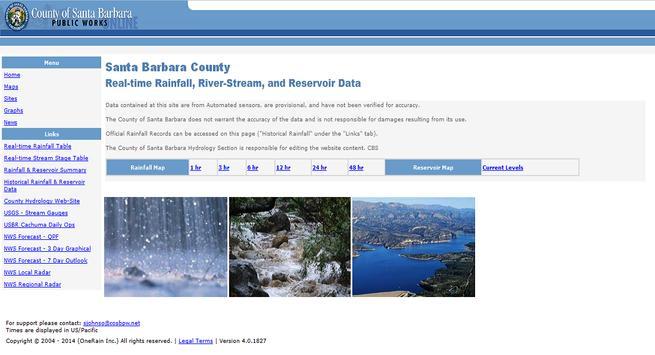 Santa Barbara County Hydrology screenshot 1