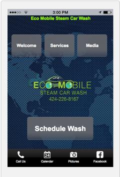 Eco Mobile Steam Car Wash poster