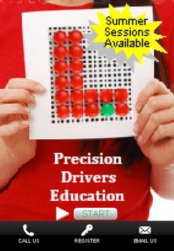 Precision Drivers Ed School poster