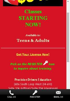 Precision Drivers Ed School apk screenshot