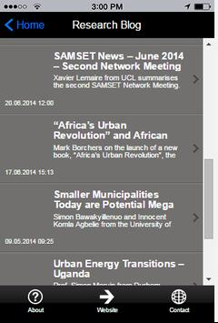 SAMSET Research apk screenshot