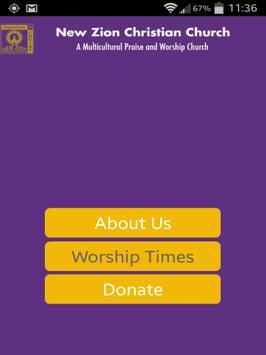 New Zion Christian Church apk screenshot
