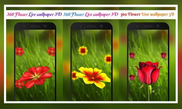 360 Flower live wallpaper 3D poster