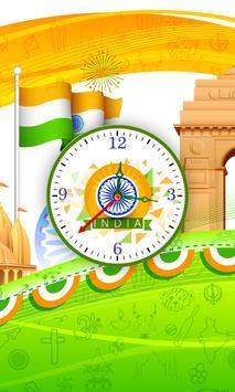 India Clock Live Wallpaper apk screenshot