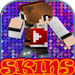 Skins Youtubers for Minecraft