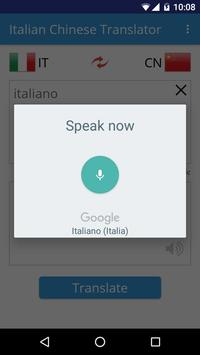 Italian Chinese Translator apk screenshot