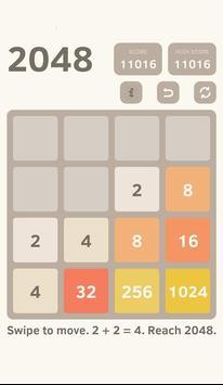 classic 2048 puzzle screenshot 1