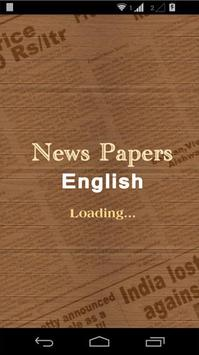 Newspapers English poster