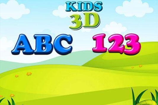 Kids 3D ABC 123 poster