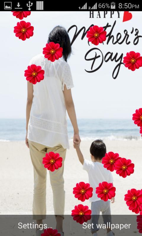 Mothers Day Live WallPaper Poster Apk Screenshot