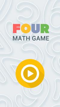 FOUR! Math Game poster