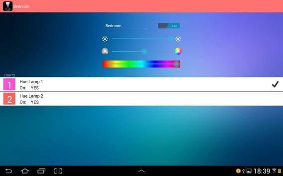 Hue Control FREE apk screenshot