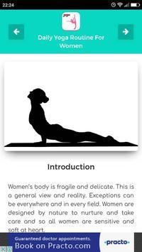 Daily Yoga Routine For Women apk screenshot