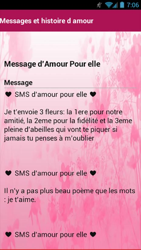 Messages Et Histoires Damour For Android Apk Download