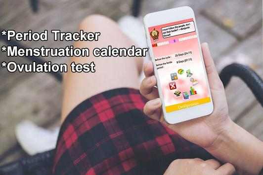 Women's Diary Period,Ovulation Tracker GO poster