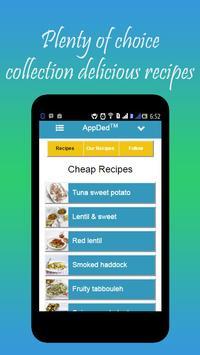Cheap Recipes apk screenshot