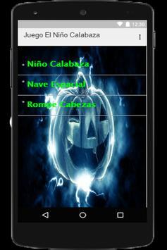 Juego El Niño Calabaza apk screenshot