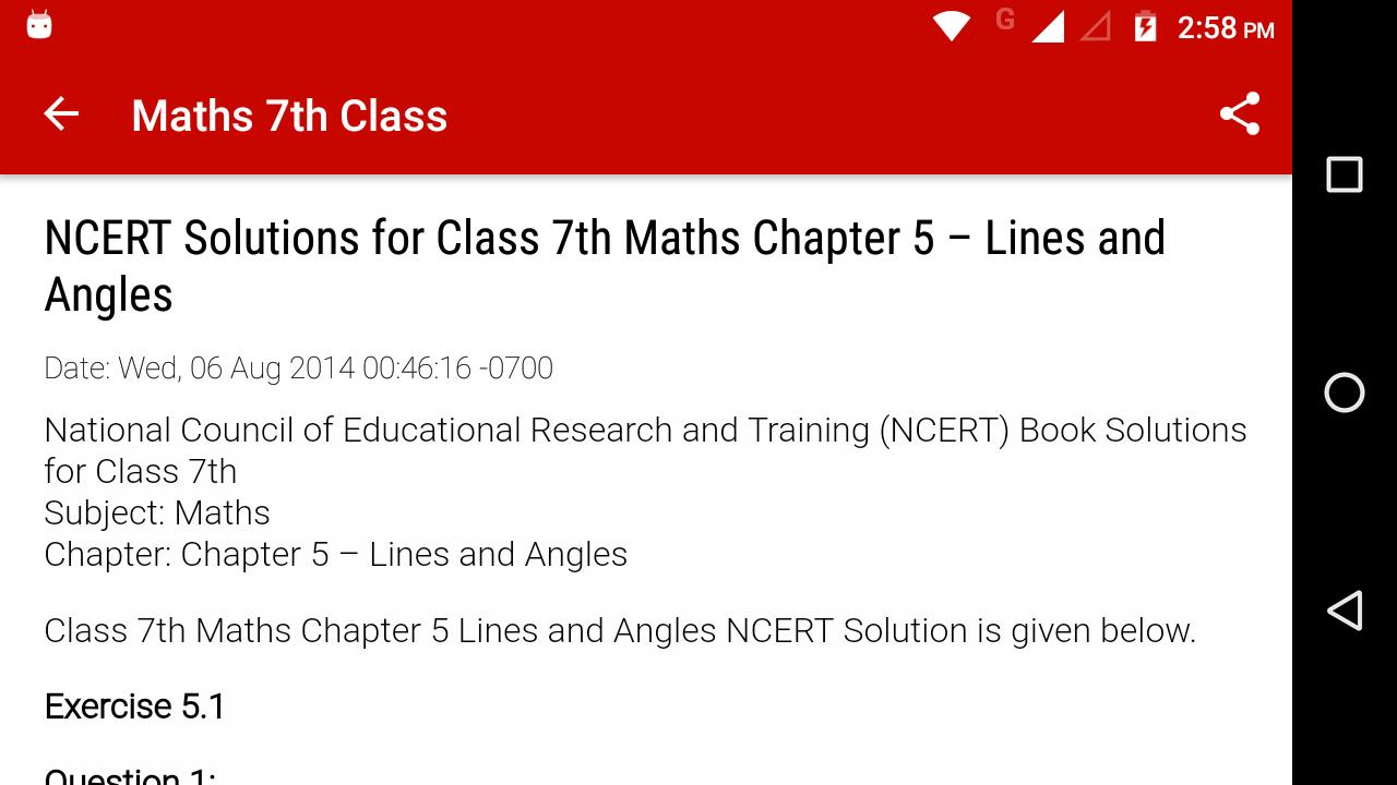 CBSE Maths Solutions 7th Class for Android - APK Download