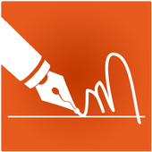 E-Signature -Signature paper from your phone icon