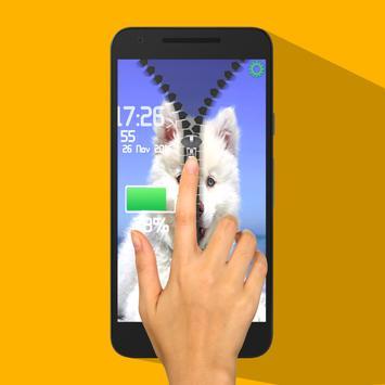 Dog Screen Zipper Lock screenshot 1