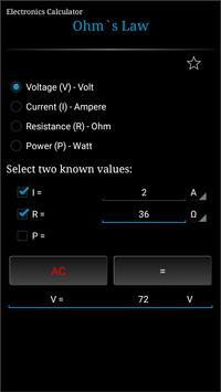 Electronics Calculator 截圖 5